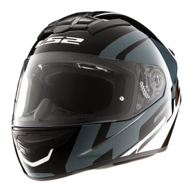 Casco Moto Integral Ls2 352 Rookie Tour Negro Gris Blanco