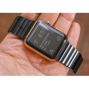 Correa Metálica Negra Y Plateada Para Apple Watch 42mm