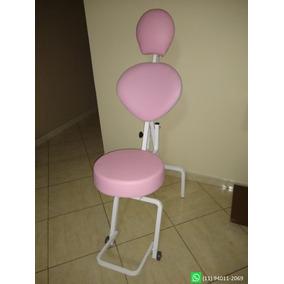 Cadeira De Maquiagem Portátil Estética Design De Sobrancelha