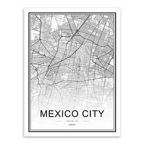 Canvas Mexicio City Nuevo Moderno Hipster Decoracion