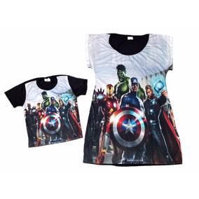 Mãe E Filho Os Vingadores Temático - (vestido E Camiseta)
