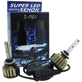 Par Lâmpada 12v 24v Super Led Farol 9000 Lm D-max H27 6000k