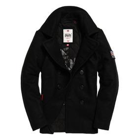 Abrigo Superdry Rookie Pea Coat Black...