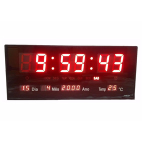 1e40458ca83 Relogio Digital De Parede - Relógios no Mercado Livre Brasil
