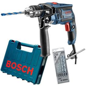 Furadeira Impact 1/2 650w Gsb 13re+maleta+kit 5 Brocas Bosch