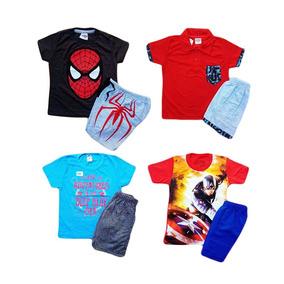 6 Conjunto Infantis Menino Atacado Short E Camiseta Verão