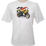 Camiseta Motocicleta Yamaha R1 Dourada