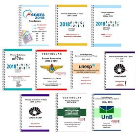 Kit 2 Apostilas Enem, Fuvest, Unesp, Unicamp, Unifesp, Ita +