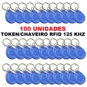 Tag Chaveiro Em4100 Rfid 125khz 100unid - Frete Grátis