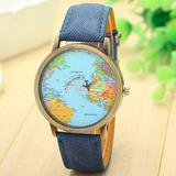 Reloj Avion Mapamundi Reloj Viajero Mapa Mundi
