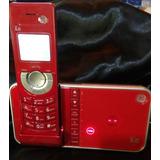 Telefono Inalambrico Rojo Ultra Slim General Electric 6.0