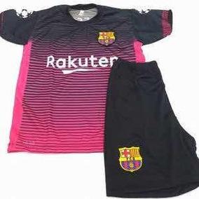 Conjunto Barcelona Rosa - Camisetas no Mercado Livre Brasil 377ac9ed14e0b