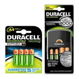 Kit Recargable Duracell Con 6 Aa 2 Aaa Y Cargador