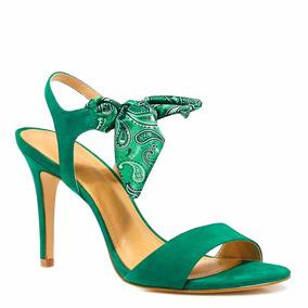 Sandália Zariff Shoes Salto Nobuck Lenço | Zariff