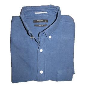 Camisa Hombre Mango Azul Manga Larga L Usada Envío Gratis 4d6ca951b0c