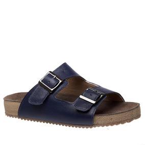 Sandália Feminina Birks 214 Em Couro Petroleo Doctor Shoes