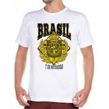 Camisa Camiseta Do Brasil Imperial Com Brasão Império 45956aca6f198