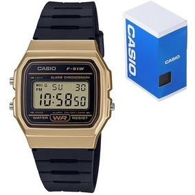 c50c8b082 Reloj Casio Clasico F91 Vintage Dorado Original Envío Gratis