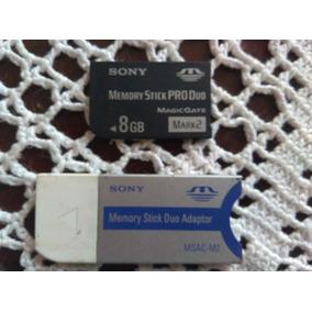 Memory Stick Pro Duo 8gb + Adaptador Marca Sony Original