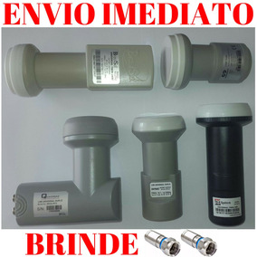 8 Lnbs Duplo Universal + 16 Conectores De Brinde Promoção!!!