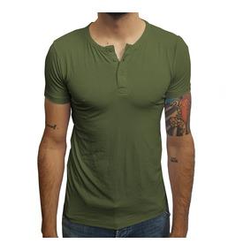 Camisa De Botão Verde - Camisetas Manga Curta para Masculino no ... 3400b94e14b8d
