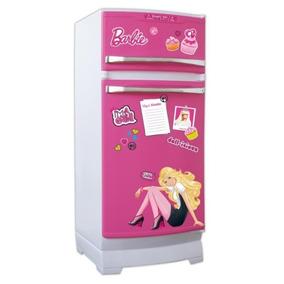 Heladera Barbie Original Tv Con Accesorios Microcentro
