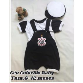 Macacão Jardineira Com Boné Para Bebê Meninos - Calçados 6c12e76ed8c