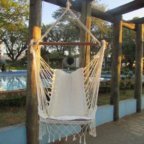 Rede Cadeira De Descanso Balanço Suspensa Com Gancho Teto