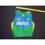 0fae9474fb Top Long Nike Dry Fit Brasil Seleçao Atletismo Oficial Fem P