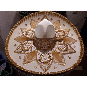 Sombrero Charro Blanco Adulto Oro Plata Fabricante Mexicano. 2 colores.    449 a4de769965ec