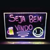 Lousa Quadro Luminoso Led 40x60cm Bivolt + 3 Canetas Neon