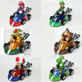 Mario Bros Kart Car X 6 Vehiculos Carros Niños Colección