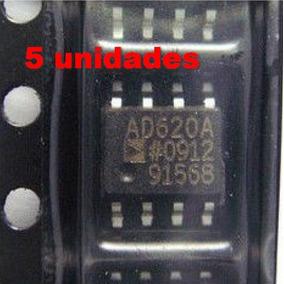 5pc Amplificador Instrumentação Operacional Ad620a Ad620 Smd