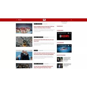 Novo Template Wordpress Clone Do Portal G1 2017 - Responsivo