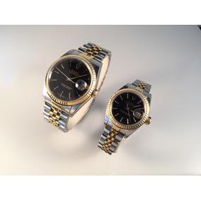Pareja De Rolex Datejust 36 Mm Y 26 Mm Acero Oro 18kt