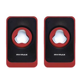 Caixa De Som Usb 6w Rms - Preto/vermelho - Mymax