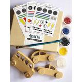 Kit Artístico Para Pintar! Auto, Camioneta, Colectivo