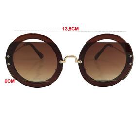 Oculos Branco Redondo De Sol - Óculos no Mercado Livre Brasil 092a0a459e