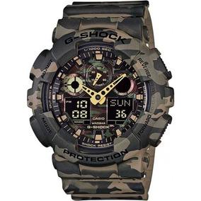 Relógio G-shock Ga-100cm-5adr Camuflado Original E Garantia