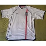 Camisa - Inglaterra - Umbro - 2002 (branca)