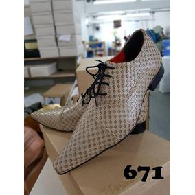 Sapato Masculino Social Couro Importado+gravata Fit+carteira