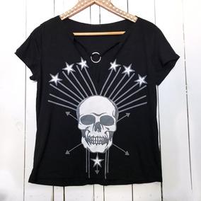 769f5ede4b3d7 Camiseta Choker Plus Size - Camisetas e Blusas Manga Curta para ...