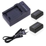 Kit 2 Baterias Npfw50 1 Cargador Camaras Sony Proglobal