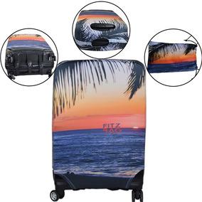 Capa De Mala Protetora Personalizada Com Estampa De Praia