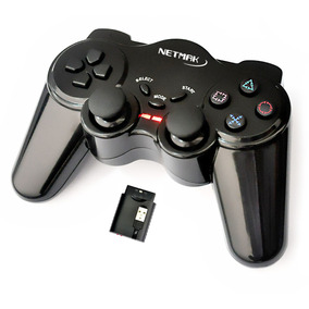 Joystick Playstation Gamepad Inalambrico Ps2 Ps3 Pc Netmak