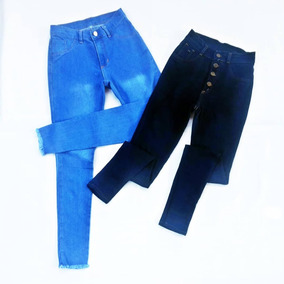 Pantalones Jeans Corte Alto Damas Talla Ss S M L Xl
