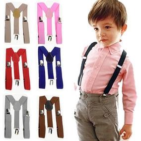 Tirantes Ajustables De Vestir Azul Para Niños Moño De Regalo
