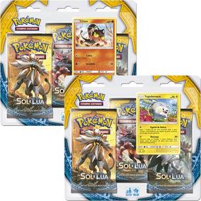 Kit 2 Triple Pack Booster Pokémon Sol Lua Litten Togedemaru