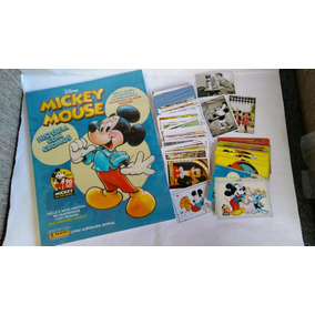 1 Álbum Mickey 90 Anos Completo Para Colar Capa Dura.