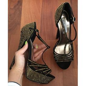 Zapatos Tacones Steve Madden Negros Ediciónl Swarovski 24! a4a85e23646d